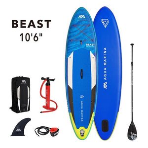 "Inflatable Paddle Board - Aqua Marina 2021 Beast 10'6"" Inflatable Paddle Board ISUP BT-21BEP SHIPS IN FEBRUARY"