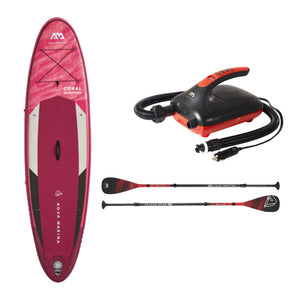 "Inflatable Paddle Board - Aqua Marina 2021 Coral 10'2"" Inflatable Paddle Board ISUP BT-21COP Ships In FEBRUARY"