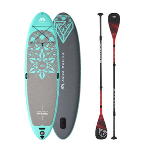 "Inflatable Paddle Board - Aqua Marina 2021 Dhyana 11'10"" Yoga Inflatable SUP BT-21DHP  Ships In February"