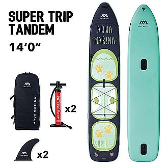 Inflatable Paddle Board - Aqua Marina 2021 Super Trip Tandem 14