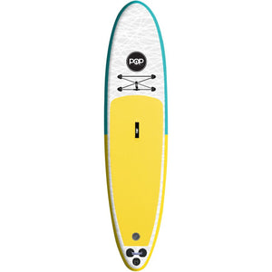 "Inflatable Paddle Board - POP Board Co 11'0"" The POP Up Yellow/ Turquoise"