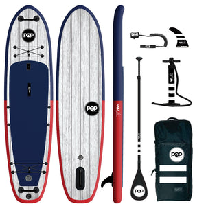 "Inflatable Paddle Board - POP Board Co 11'6"" El Capitan Red/ Blue"