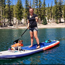 "Load image into Gallery viewer, Inflatable Paddle Board - POP Board Co 11'6"" El Capitan Red/ Blue"