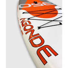 "Load image into Gallery viewer, Close up view of Rave Sports Agonde iSUP - Mesabi Orange 11'6"" 02945"