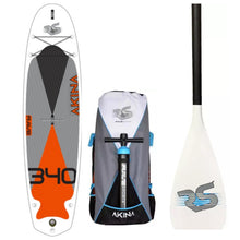 "Load image into Gallery viewer, Inflatable Paddle Board - Rave Sports Akina 340 ISUP -Monarch Orange 11'2"" 02956"