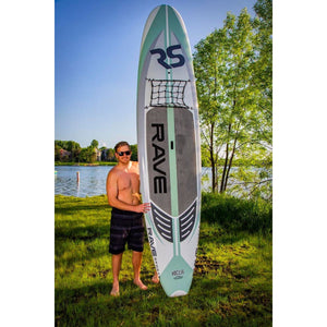 "Inflatable Paddle Board - Rave Sports Hybrid Displacement 11'6"" Cruiser - Seaglass 02881"
