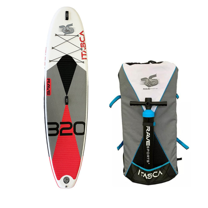 Inflatable Paddle Board - Rave Sports Itasca ISUP - Salmon Red 10'6