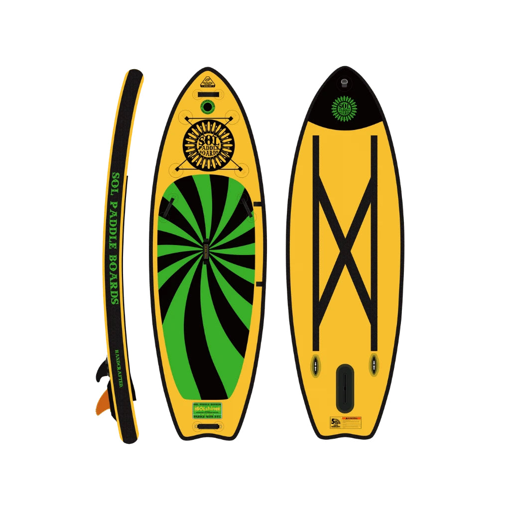Inflatable Paddle Board - SOL Paddle Boards SOLshine Inflatable Paddle Board - Carbon GalaXy 220001-020300