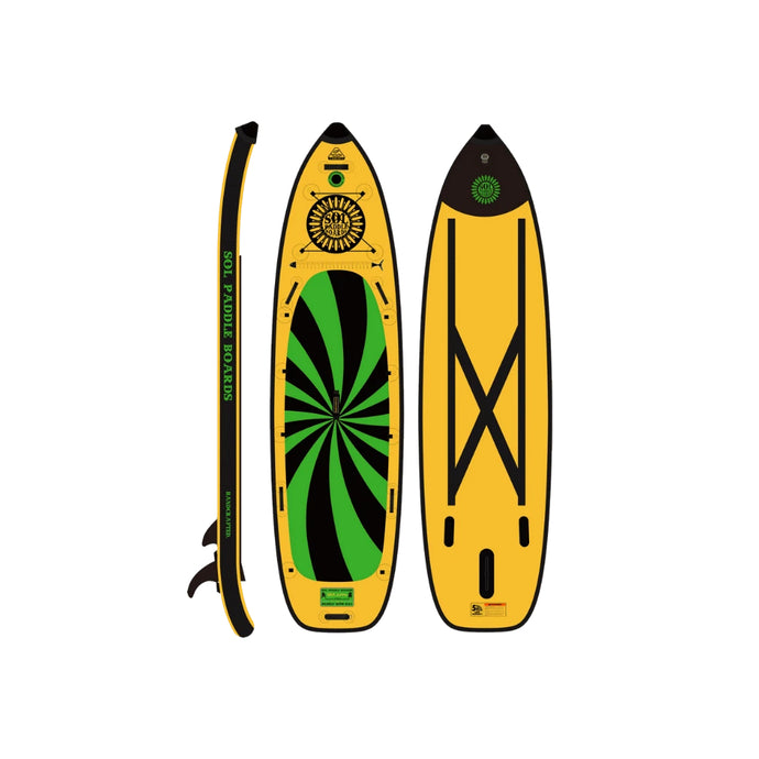 Inflatable Paddle Board - SOL Paddle Boards SOLsumo Inflatable Paddle Board - Carbon GalaXy 240001-040100