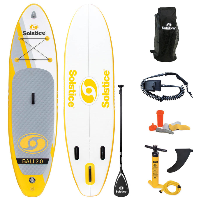 Inflatable Paddle Board - Solstice Watersports Bali 2.0 Inflatable Stand-up Paddleboard - Full Kit 34126 - Ships End Of November