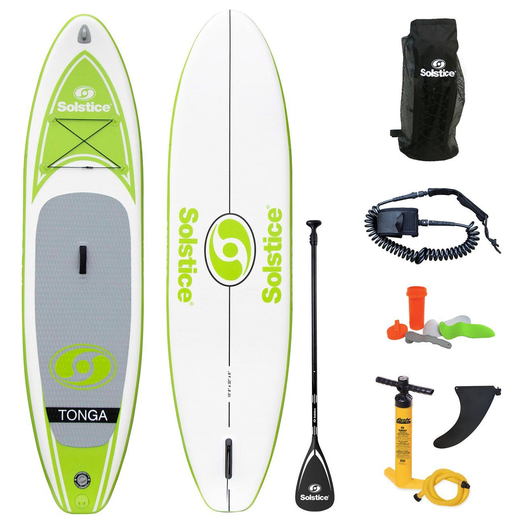 Inflatable Paddle Board - Solstice Watersports Tonga Inflatable Stand-up Paddleboard 35132KIT - Ships End Of Nov.