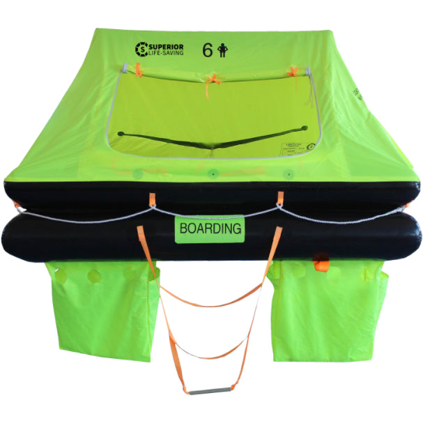 Life Raft - Superior Coastal Surge Life Raft, 6 Person