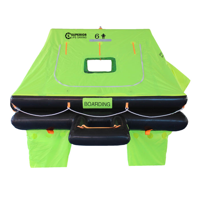 Liferaft - Superior Life-Saving ISO Wave Racer Liferaft, 4 - 8 Person