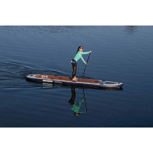 Paddle Board - AquaGlide 14' Blackfoot Tandem Angler Inflatable Stand Up Paddle Board 585617114