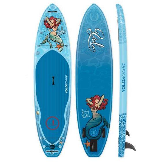 Paddle Board - Yolo 2020 Mermaid 11' Inflatable Stand Up Paddle Board ISUP