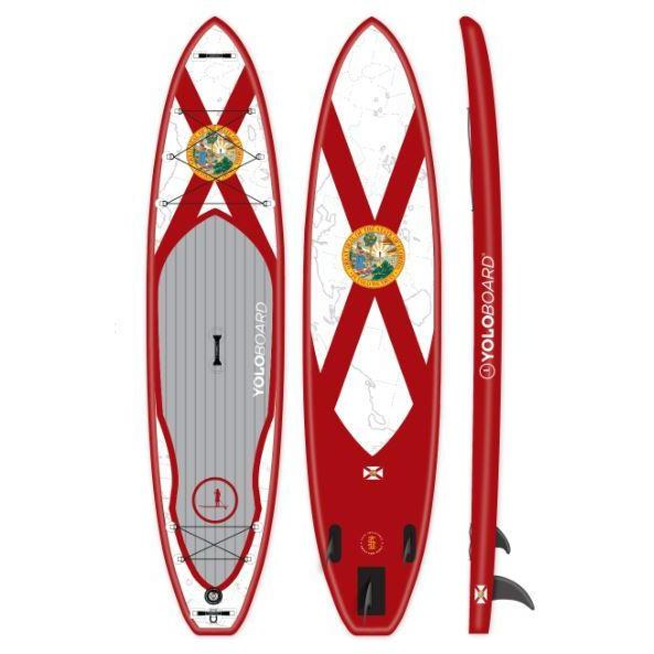 Paddle Board - Yolo Florida Man 12' Inflatable Stand Up Paddle Board ISUP