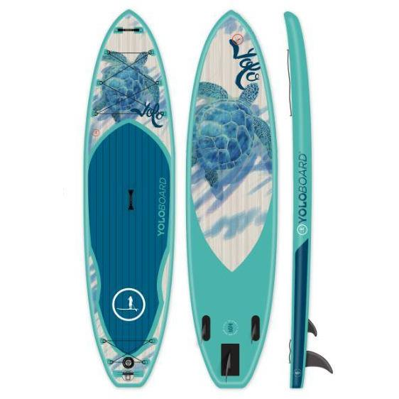 Paddle Board - Yolo Honu 11' Inflatable Stand Up Paddle Board ISUP