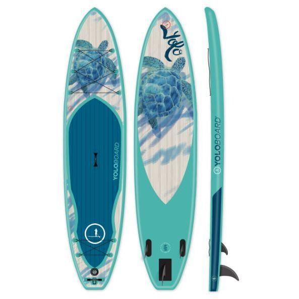 Paddle Board - Yolo Honu 12' Inflatable Stand Up Paddleboard ISUP