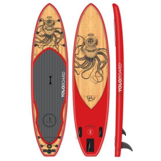 Paddle Board - Yolo Octoscuba 11' Inflatable Stand Up Paddleboard ISUP