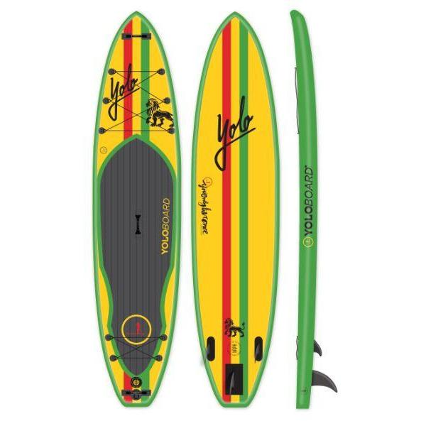 Paddle Board - Yolo Rasta 12' Inflatable Stand Up Paddleboard ISUP