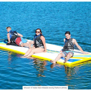 Rave Sports Whoosh 15' Water Mat Inflatable Activity Platform (White)  02828
