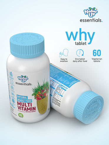NaturUp Essentials Whole Food Multi Vitamin Tablets