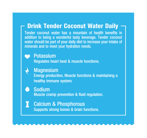 NaturUp Tender Coconut Water Powder Mix - Pack of 50