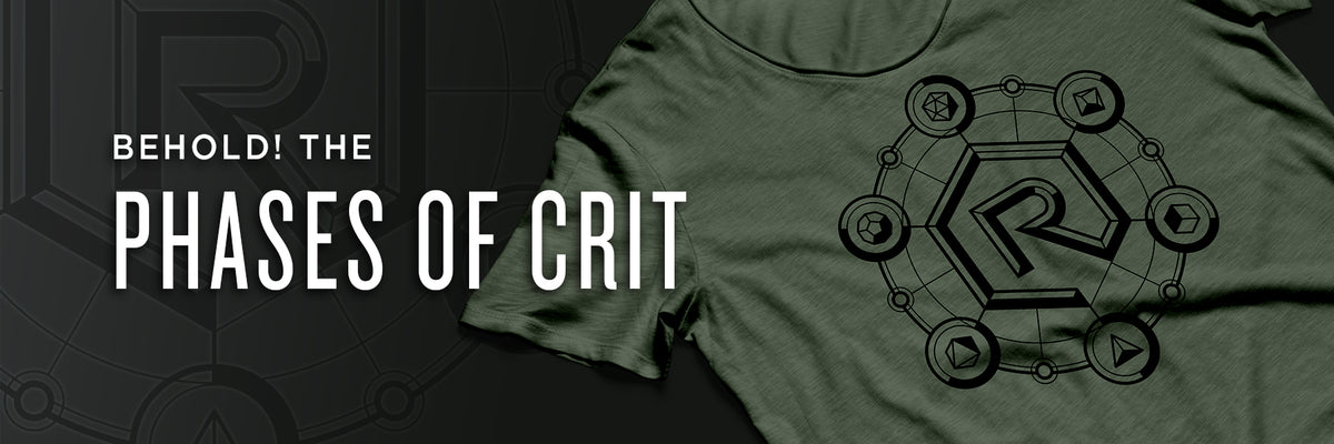 Phases of Crit Shirt | Rollacrit