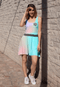 Rollacrit Hex Rainbow Skater Dress | Rollacrit
