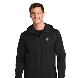 PORT AUTHORITY MEN'S ACTIVE HOODED SOFT SHELL JACKET