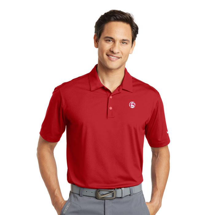 NIKE DRI-FIT VERTICAL MESH POLO - RED