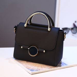 Single Shoulder Crossing Bag Handbag Fashion Small Stone Lock Button Bag - FashionBunkers