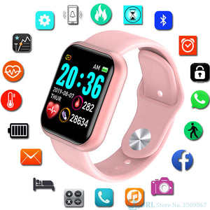 Square Digital Watch Women Sport Men Watches - FashionBunkers