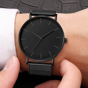 Ultra-thin Rose Gold Watch - FashionBunkers