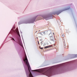 Square Luxury Diamond Women Watches - FashionBunkers