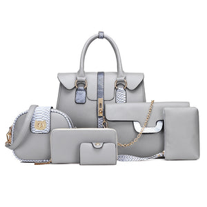 Women Bags Six Piece Set Fashion European and American Style - FashionBunkers