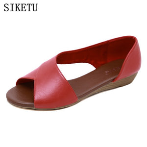 SIKETU 2020 new summer side open women's sandals fish mouth wedge - FashionBunkers