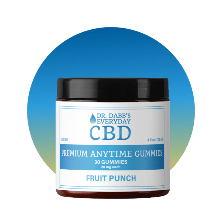 Dr. Dabb's Every Day CBD Premium Anytime Gummies - Fruit Punch - 30 gummies with 20 mg CBD each