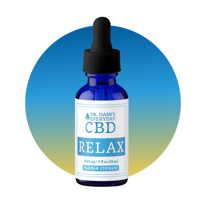 Dr. Dabb's Every Day Relax CBD Tincture with 1000mg per 1 fl oz bottle (30 ml).