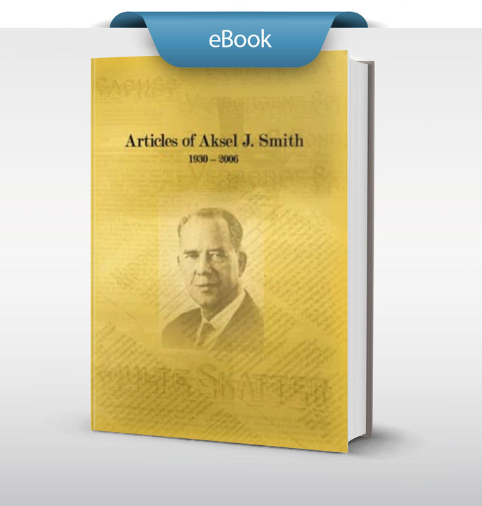 Articles of Aksel J. Smith 1930-2006 (English) - eBook