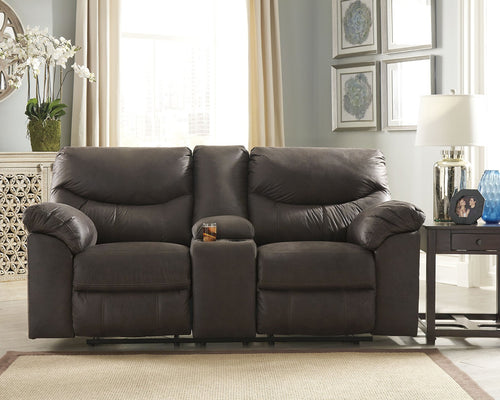Boxberg Signature Design by Ashley DBL Rec Loveseat wConsole image