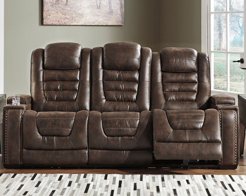 Game Zone Signature Design by Ashley PWR REC Sofa with ADJ Headrest image