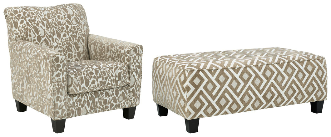 Dovemont Signature Design 2-Piece Chair & Ottoman Set image