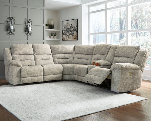 Family Den Millennium by Ashley 3-Piece Power Reclining Sectional image