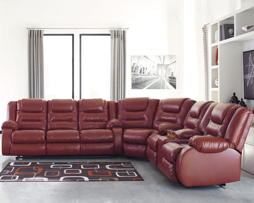 Vacherie Signature Design by Ashley 3-Piece Reclining Sectional image