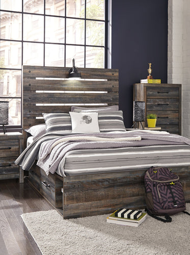 Drystan Signature Design by Ashley Bed with 2 Storage Drawers image