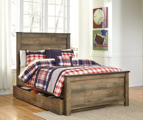 Trinell Signature Design by Ashley Bed with Storage Drawer image