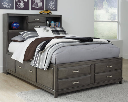 Caitbrook Signature Design by Ashley Bed with 7 Storage Drawers image