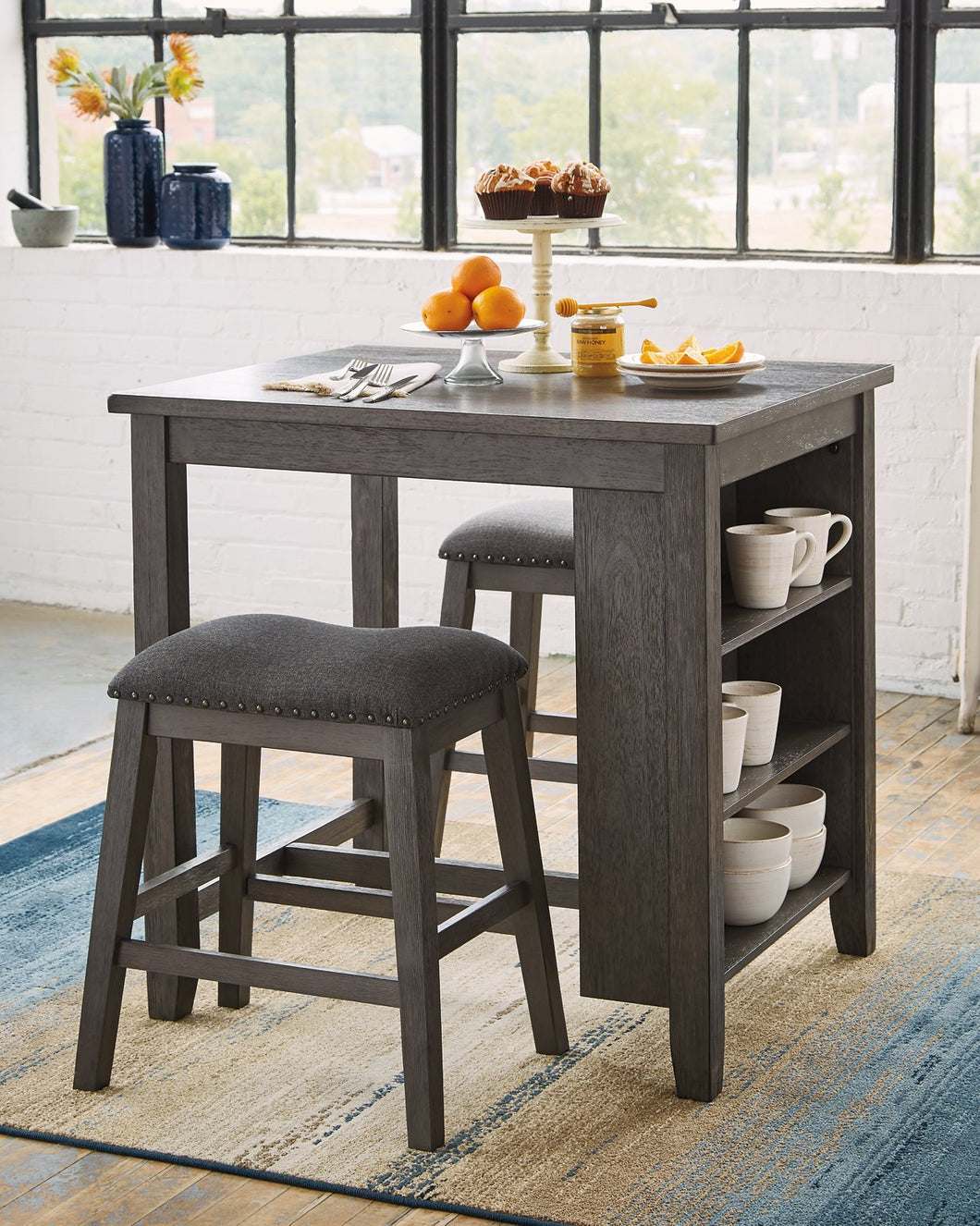Caitbrook Signature Design by Ashley Counter Height Table set of 3 image