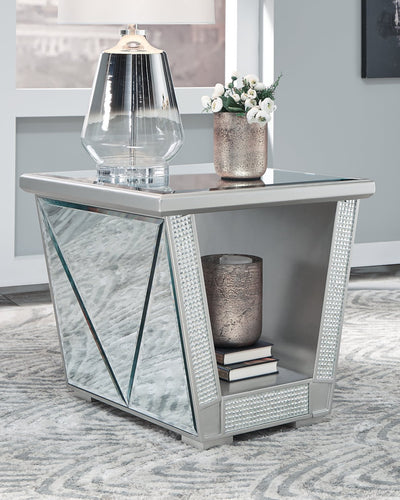 Fanmory Signature Design by Ashley Square End Table image